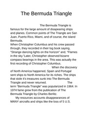 argumentative essay on bermuda triangle