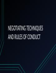 NEGOTIATING TECHNIQUES AND RULES OF CONDUCT.pptx