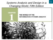 Chapter1 The World of the Information Systems Analyst- review