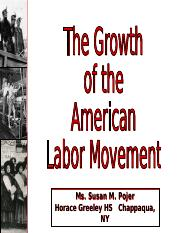 ECON 10.A Growth Of The Labor Movement.ppt