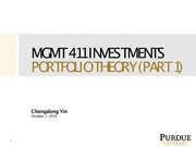 Portfolio Theory Part 1 with solution