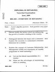 (www.entrance-exam.net)-IGNOU Diploma in Retailing-Overview of Retailing Sample Paper 3