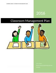 Classroom Management Plan _Natalie Jones