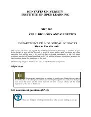 SBT 300 Cell Biology And Genetics