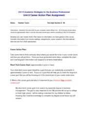Heather Taylor -Unit9-CareerActionPlan
