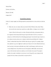 busn foundations of business drexel page course 5 pages personal ethics paper
