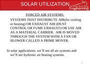 solar utlization lec 10 forced air