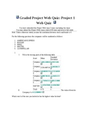 Graded Project Web Quiz