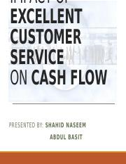IMPACT OF CASH FLOW ON CUSTOMER SERVICES.pptx