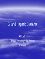 Chapter 8 GI and Hepatic Systems