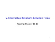 V_Contractual Relations between Firms