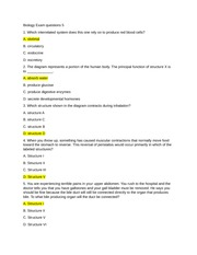 Biology Exam questions 5