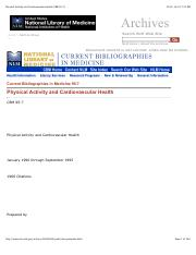 Physical Activity and Cardiovascular Health (CBM 95-7)