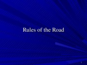 2. Rules of the Road - Audience and Purpose