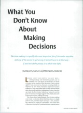 What you dont know about making decisions