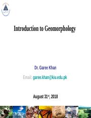Introduction to Geomorphology (1st Lec.).ppt