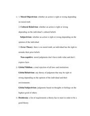 Ethics Study Guide