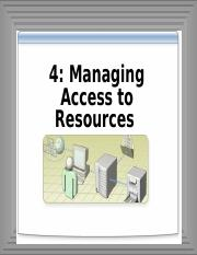 4-managing Access to resources