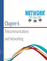 CHAPTER 6 telecommunications and networking