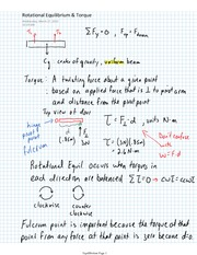 PHYS 11 Rotational Equilibrium & Torque Notes