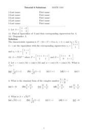 Tutorial 6 Solutions