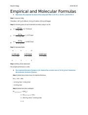 April 20 - Empirical and Molecular Formulas Assignment.docx