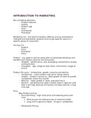 Introduction to Marketing 2-15