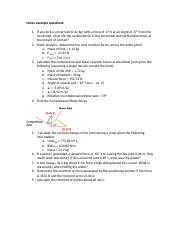 practice problems from notes & moodle