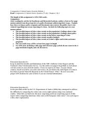 Comparative Criminal Justice Systems Questions from Module 1.docx