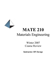 MATE210 Course Review