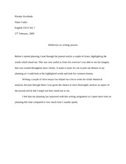 RA reflection paper