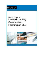 Nolo Llc Guide Pdf Nolo Nolos Guide To Limited Liability Companies