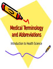 MedTerm for Intro