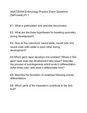 ANAT20006 Embryology Practice Exam Questions Self-made Pt 1.pdf