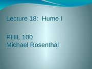 Lecture 18 (Hume 1)