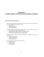 CHAPTER 3 TRADE MODEL EXTENSIONS AND APPLICATIONSP