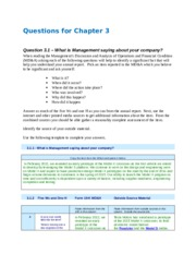Questions for Chapter 3