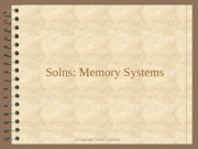 Solns Memory Systems