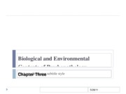 Biological and Environmental Contexts of Psychopathology