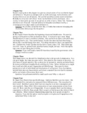 Parenti Ch. 1-4 brief summaries