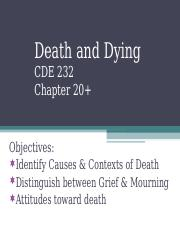 Ch 20 Death, Dying, and Grieving.ppt