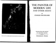Baudelaire- The painter of modern life