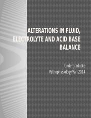 alterations in fluid and electrolytes revised fall 2014