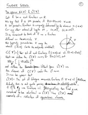 Lecture Note on Spaces in Fourier Series