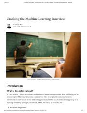 Cracking the Machine Learning Interview - Machine Learning Algorithms and Applications - Medium.pdf
