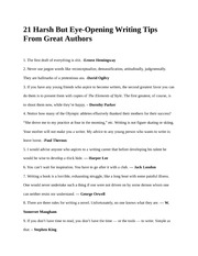 Non fiction- Notes- 21 Tips of Writing