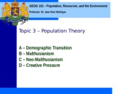 Geog 102 Topic 3