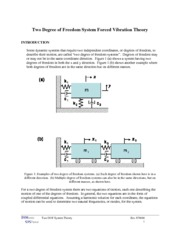 Theory for Two Degree of Freedom Systems