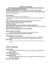 Chapters 1-4 Review Sheet