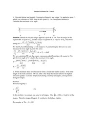 Sample Problems for Exam II